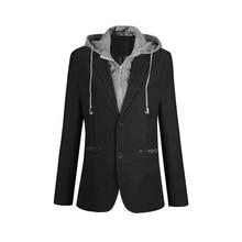 Plus Size M-6XL Casual Blazer Men Fake Two Pieces Detachable