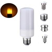 Home Decor LED Lamp Bulb E27 E26 E14 E12 B22 Holiday Three Mode Flame Effect Flickering