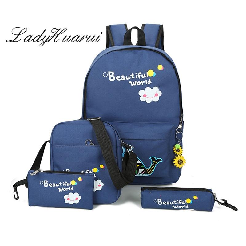 Свежий Школьные ранцы для девочек высокое качество печати холст рюкзаки школьные сумки для подростка школьный рюкзак Mochila Q3