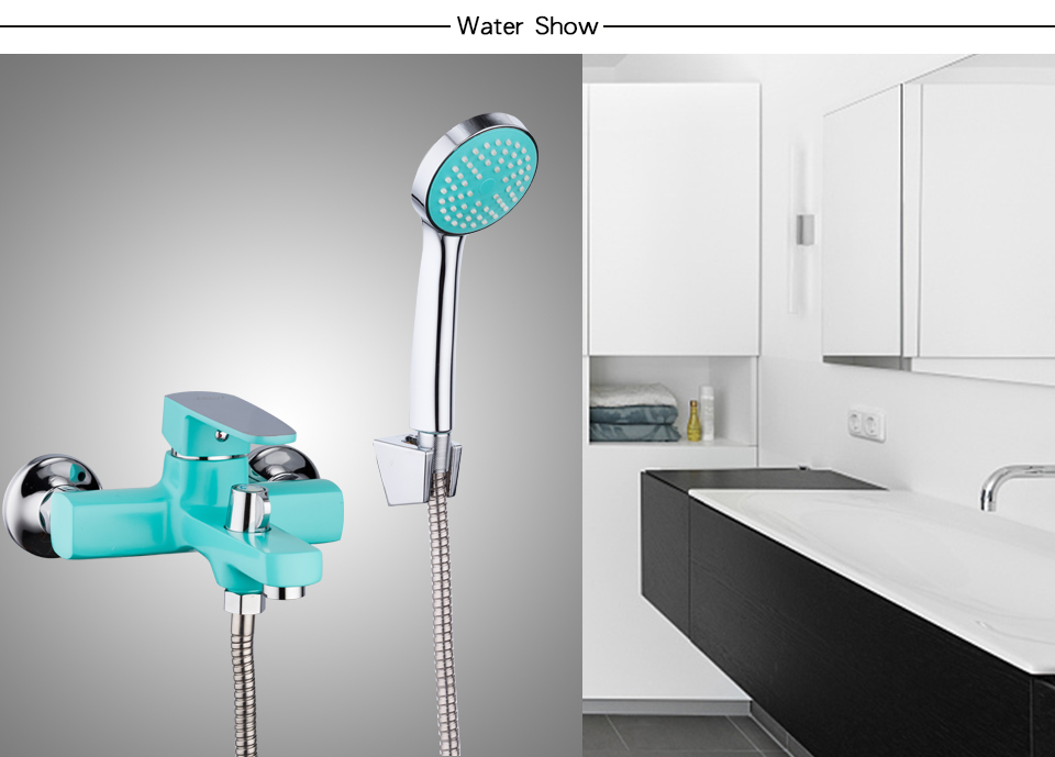 Green bathroom sink faucet 7