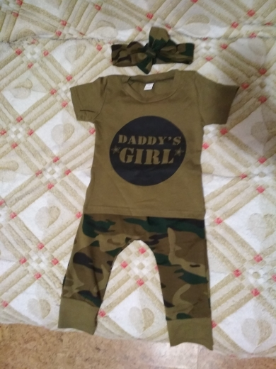 Baby Boy's Cotton Clothing Set with Camouflage Pattern photo review