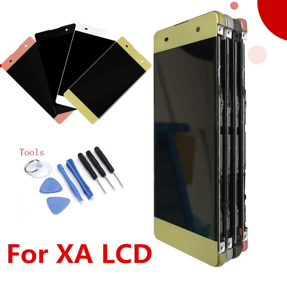 Original LCD For Sony Xperia XA F3111 F3113 F3115 F3116 LCD Display With Touch Screen Display Digitizer Assembly With Frame