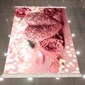 Еще Розовые розы бриллиантовые сердца белые яркие точки цветок 3d микрофибра противоскользящая задняя моющаяся декоративная кухонная зона ...