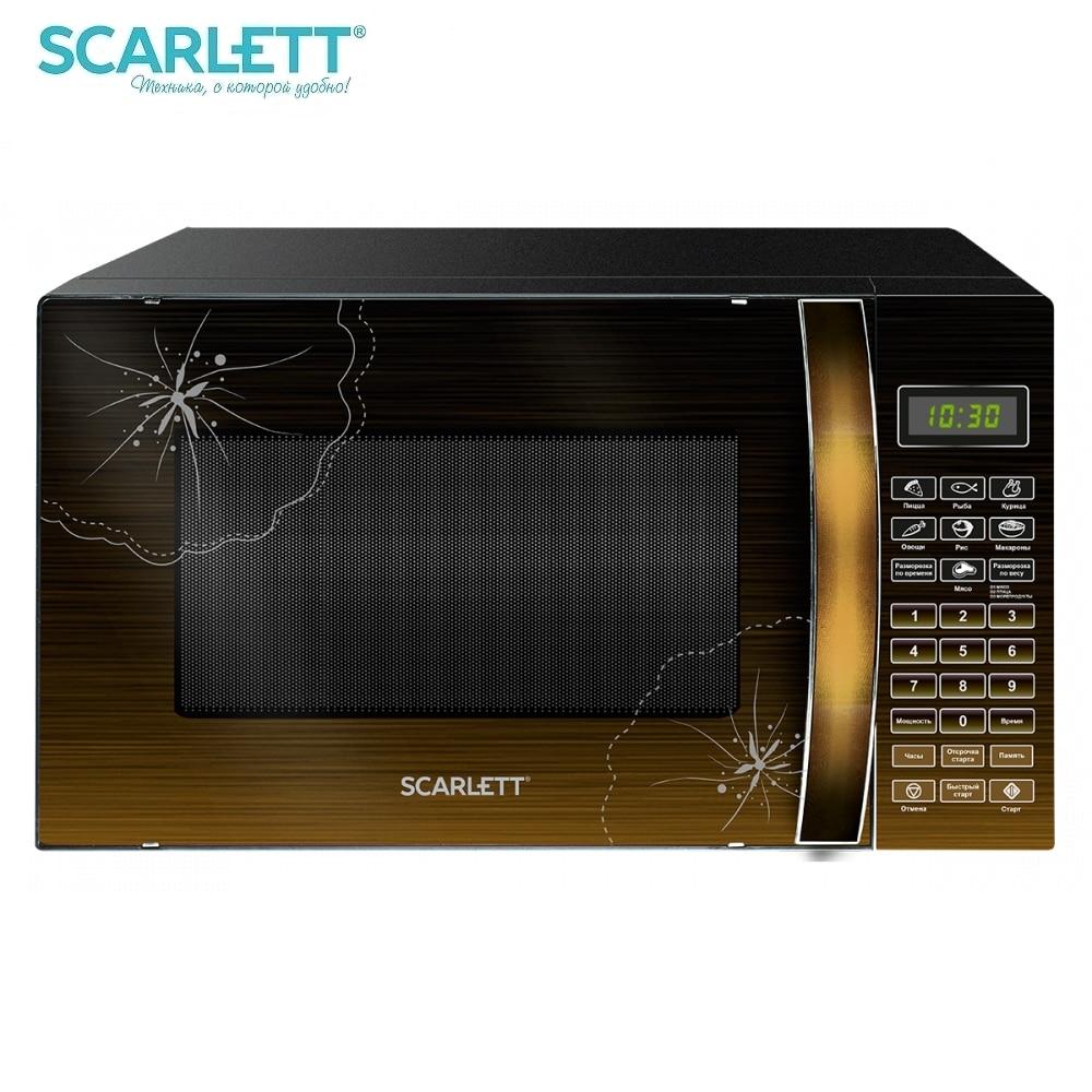 цены на Microwave oven Scarlett SC-MW9020S01DR Microwave oven kitchen Household appliances for kitchen  в интернет-магазинах