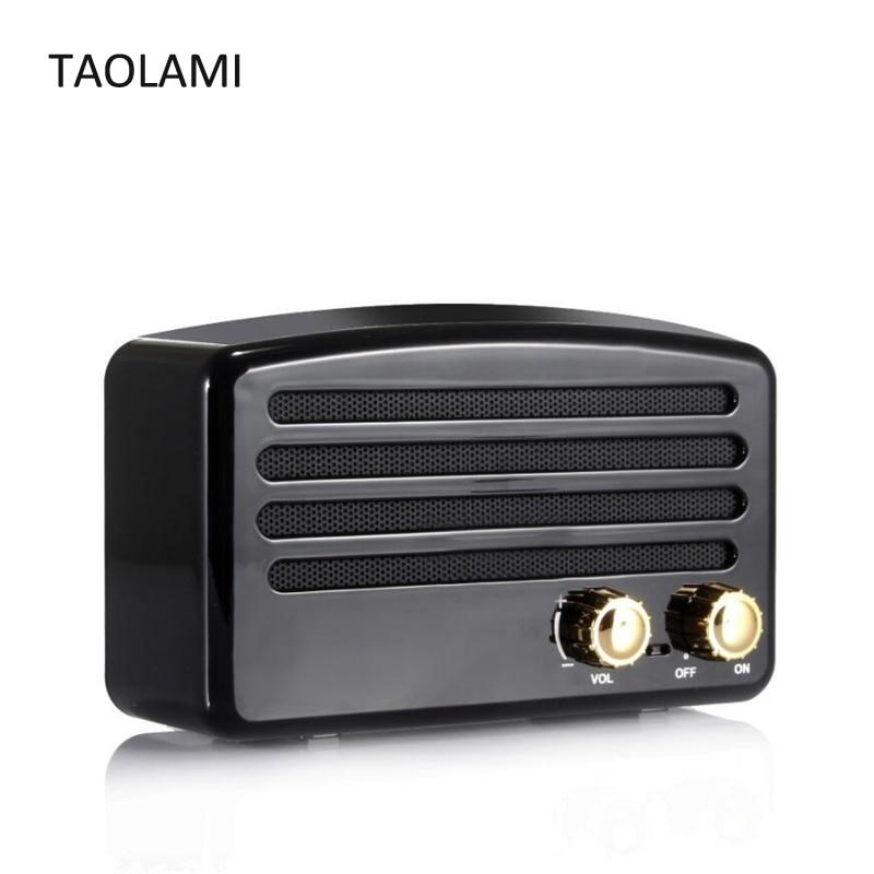 Mini haut-parleur Portable Bluetooth rétro bouton haut-parleurs sans fil Super basse stéréo Subwoofer haut-parleurs FM TF carte cadeau de noël