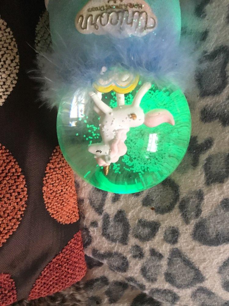 Musical Snowflake Unicorn Crystal Ball photo review