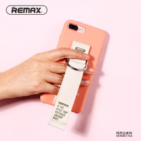 Remax Girls Wrist Strap Case For Apple IPhone 7 8 Plus Fashion Silky Liquid Silicone Shockproof