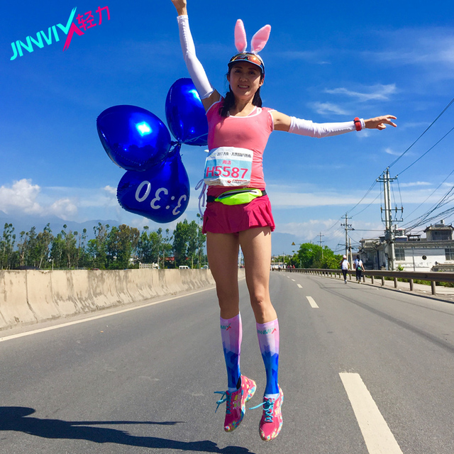 US $26 8 |JINNMIX Dream women marathon cross country running socks men  Compression stockings Long tube cycling Absorb sweat socks-in Running Socks