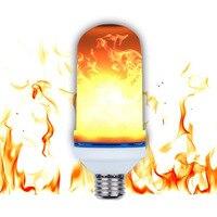 החדש E27 מנורת להבת LED אפקט אש נורות 5 W אורות להבה אמולציה מהבהב 3 מצבים AC85-265V