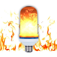 New E27 LED Flame Lamp Fire Effect Light Bulbs 5W Flickering Emulation Flame Lights 3 Modes