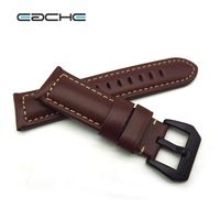 Classical Handmade Matte Vintage Soft Genuine Leather Watchband Watch Strap For P Watch 22mm 24mm 26mm