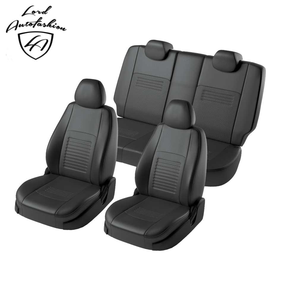 Para Kia Rio sedan 2017-2019/Kia Rio X-Linha 2017-2019 especial tampas de assento completo set (Eco-couro, modelo de Turim)