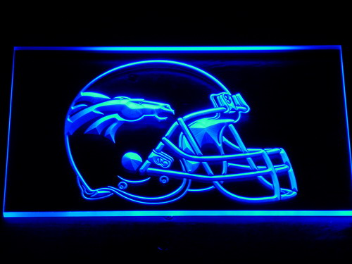 237 Denver Broncos Helmet Bar Pub LED Neon Sign with On/Off Switch 7 Colors 4 Sizes to choose