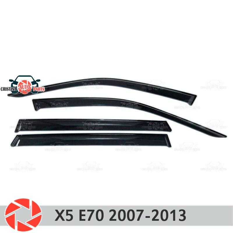 цена на Window deflector for BMW X5 E70 2007-2013 rain deflector dirt protection car styling decoration accessories molding