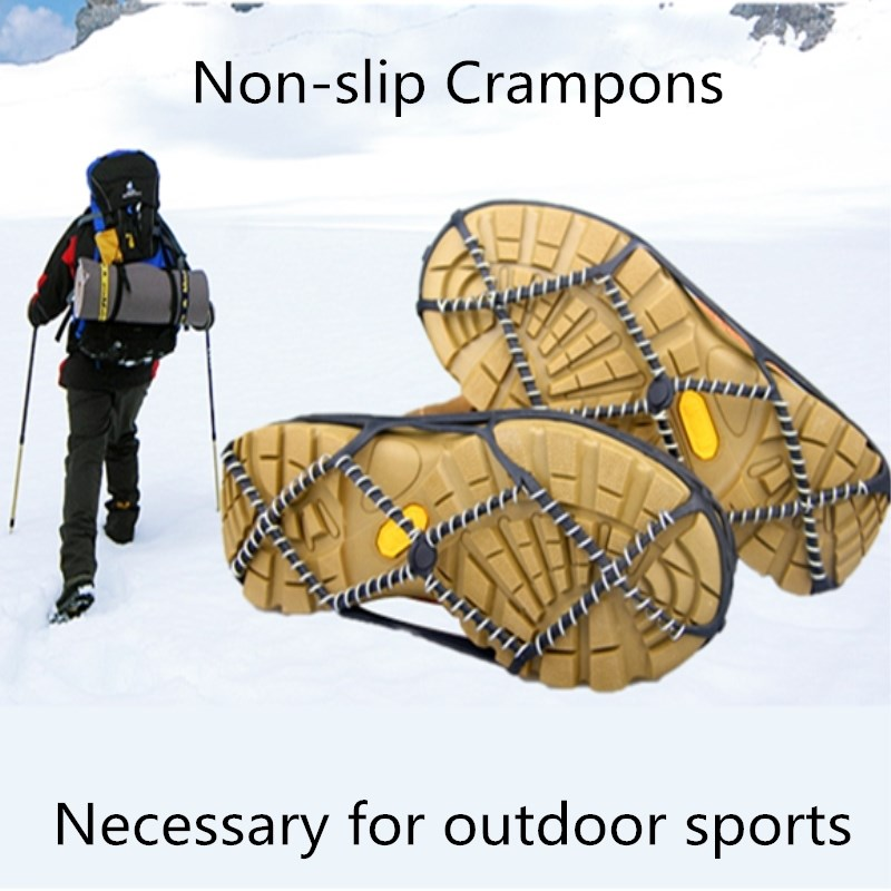 1 Pair Ice Snow Gripper,Professional AntiSkid Non-Slip Elastic Shoes Boots Spikes Grips, Shoe Covers Crampons For Outdoor,Unisex
