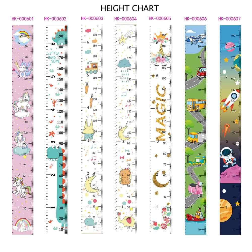 Rainbow Unicorn Children's Hanging Kids Growth Chart Wall Sticker Rule Growth Table Height Measurement Ruler for Kids Boys Girls