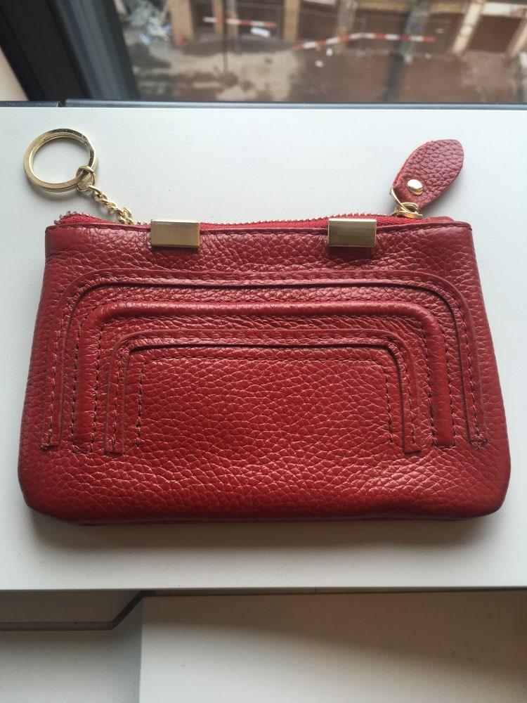 Nieuwe designer portemonnee sleutelhanger Vrouwen Mini portemonnee Koe echt leer Kleine portemonnee Koreaanse stijl Hoge kwaliteit vrouwelijke tas Beroemd photo review