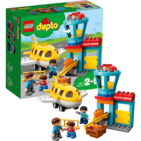 Designer LEGO DUPLO 10871 Airport children toys blocks construction child 7221446 2015 kids construction toys city crane plastic model kits eductional building blocks compatible with lego diy toys 380pcs set