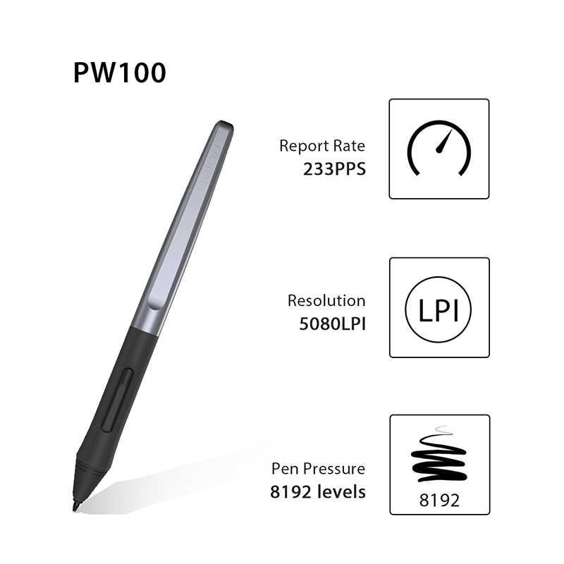 HUION PW100 แบตเตอรี่ปากกาสำหรับ Huion แท็บเล็ตกราฟฟิค H640P/H950P/H1060P/H610PRO V2