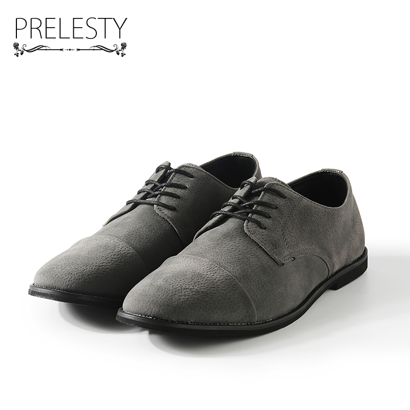 Prelesty Winter Retro Vintage Men Casual Shoes Italian Man Flats Shoes Warm Suede Leather Lace-Up Moccasins Chaussure Homme prelesty new design genuine leather men flats black brown men leather shoes for gentlemen zapatos hombres mature man slip ons