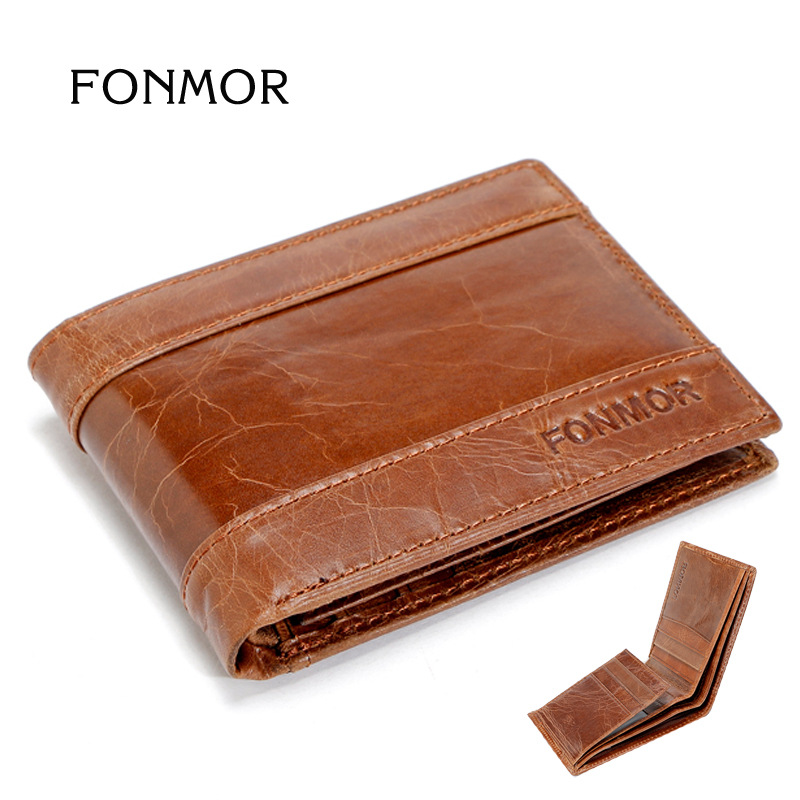 Men Wallet  genuine leather luxury dollar price short style male purse Vintage Oil wax leather Wallet free shipping dollar price new european and american ultra thin leather purse large zip clutch oil wax leather wallet portefeuille femme cuir