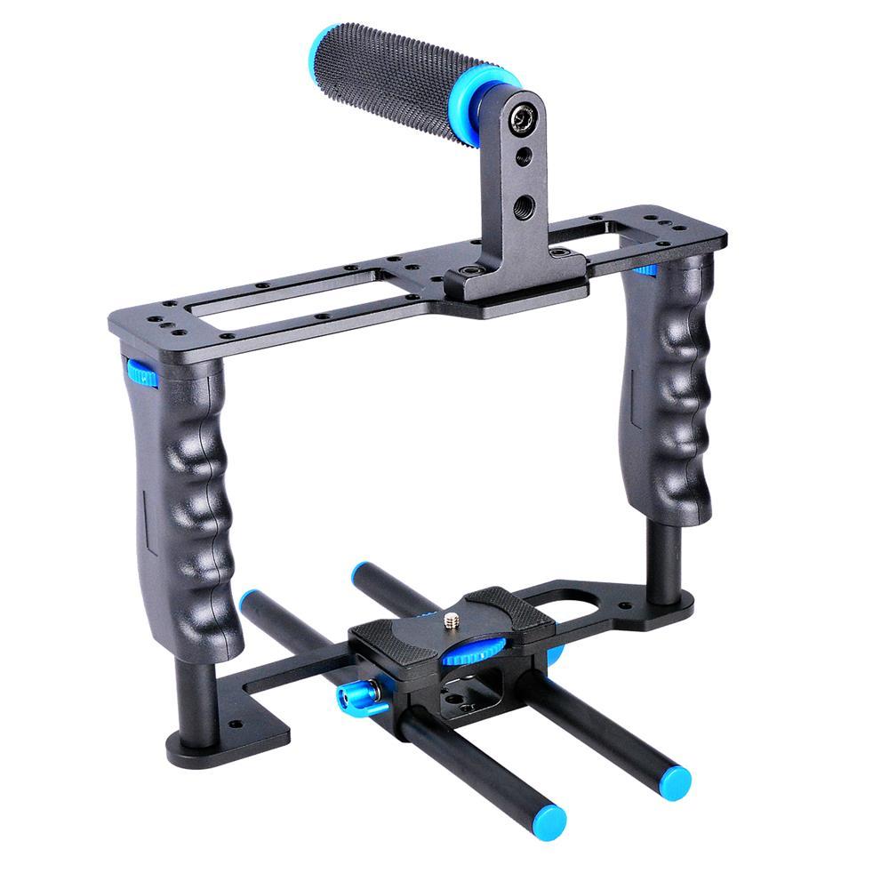 C2 Kit de caméra photographique en métal SLR Kit de Cage de lapin pour Canon 5d2 Kit de caméra Micro Film faible tir amortisseur Stable