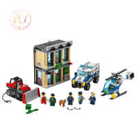 BELA 10659 City Series Bulldozer Break In Building Blocks Compatible 60140 Birthday Gifts Educational Toys For Children 591Pcs