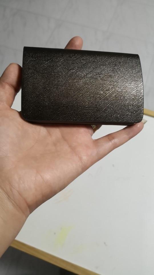 BYCOBECY Lederen Hoogwaardige Mannen Naam Kaarthouder ID Creditcard Portemonnee Grote Capaciteit Card Case Organizer photo review