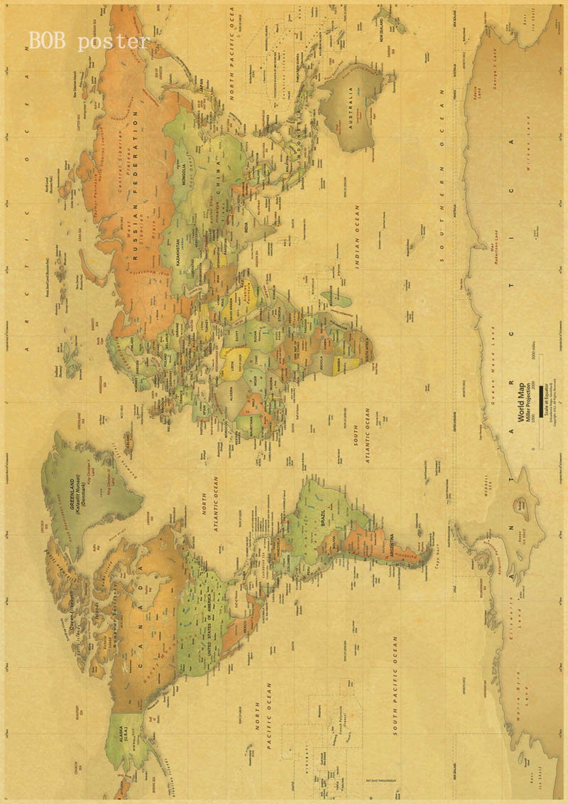Vintage poster ancient old city world maps middle earth old map vintage poster ancient old city world maps middle earth old map poster retro kraft paper home decor wall sticker in wall stickers from home garden on gumiabroncs Gallery