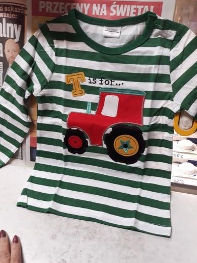 Boy's Long Cartoon Tractor Long Sleeve Shirt photo review