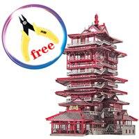 Piececool 3D металлические головоломки YueWang башня модель здания P089 RKS китайские культурные особенности творческие игрушки