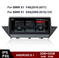 Android 8.1 all in one touch IPS screen upgrade for BMW X1 E84 F48 original NBT multimedia player with GPS navigation radio