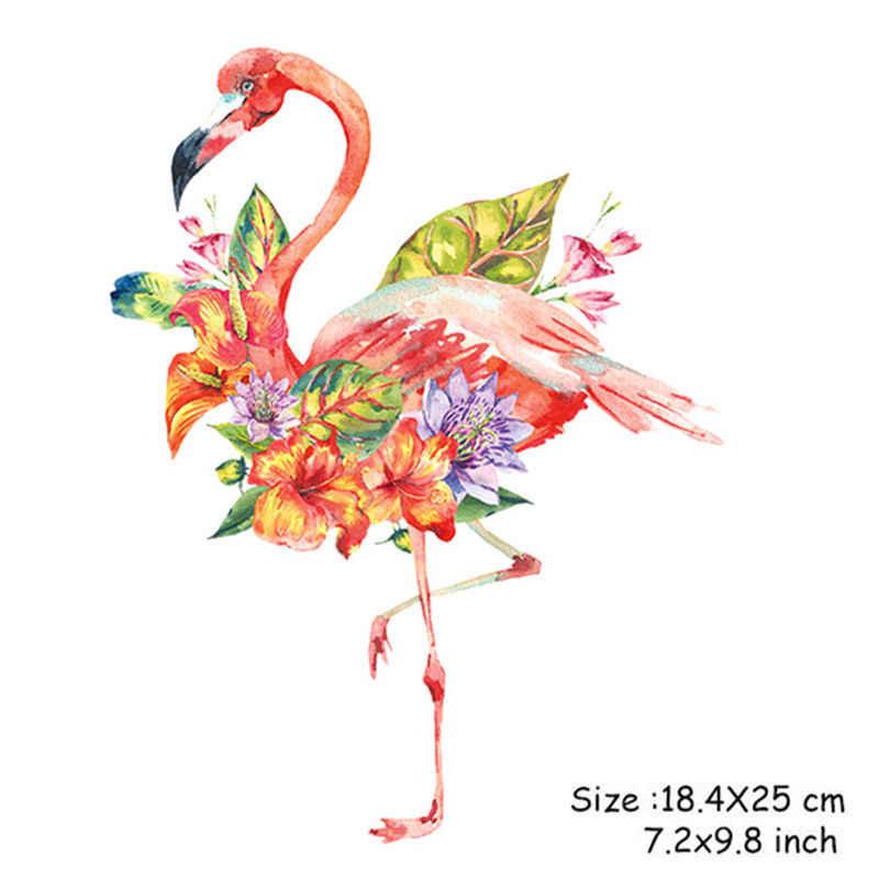 1 шт. 18 4*25 см мультяшный фламинго нашивка цветок лист моющийся железо переводной