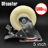 500kg Heavy Load 5 Inch Casters 360 Degree Caster With Brake Carrying Wheel Universal Castor Double