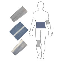 Комплект бандажей с шерстью овцы Здоровье №5(XL), пояс, повязка на колено, повязка на локоть, EcoSapiens