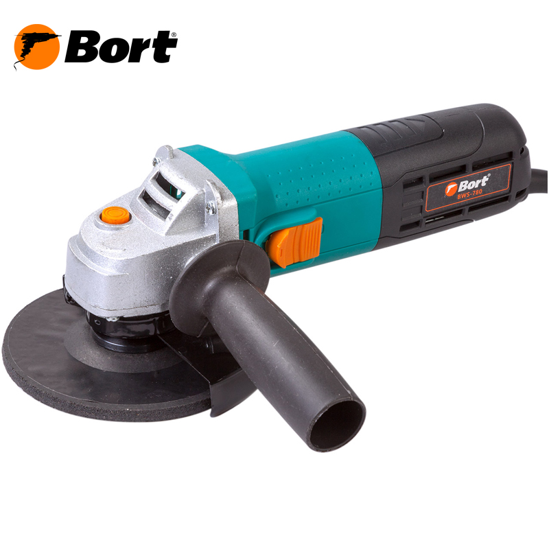 BORT Angle Grinder bulgarian USHM Grinding machine Electric grinder Angle Grinder grinding Power or cutting metal portable Woods Steel Power Tool Warranty BWS-780 цена и фото