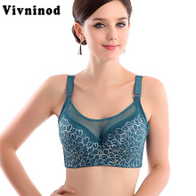 Women Sexy bralette big size lace underwear Push Up bras,e 80 85 90 95 100 B C D Intimates Female Bra Tops lingerie Full Cup Bra(China)