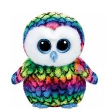 Original 6″ 15cm Ty Beanie Boos Aria Owl Stuffed Plush Collectible Big Eyes Doll Toy