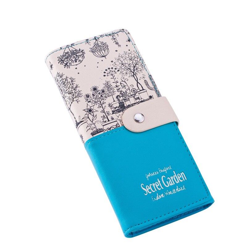 Fashion brand leather wallet for women, Female Walletlandscape Pattern Large Capacity Ladies Clutch