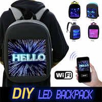 Fashion Waterproof WiFi Smart LED Screen Dynamic Backpack DIY Light City Backpack For Walking Outdoor Advertising Mochila De Led