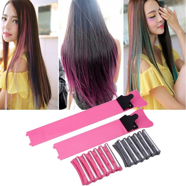 Salon Hair Dyeing Board Tool Kit Hair Bleach Highlight Color Tint