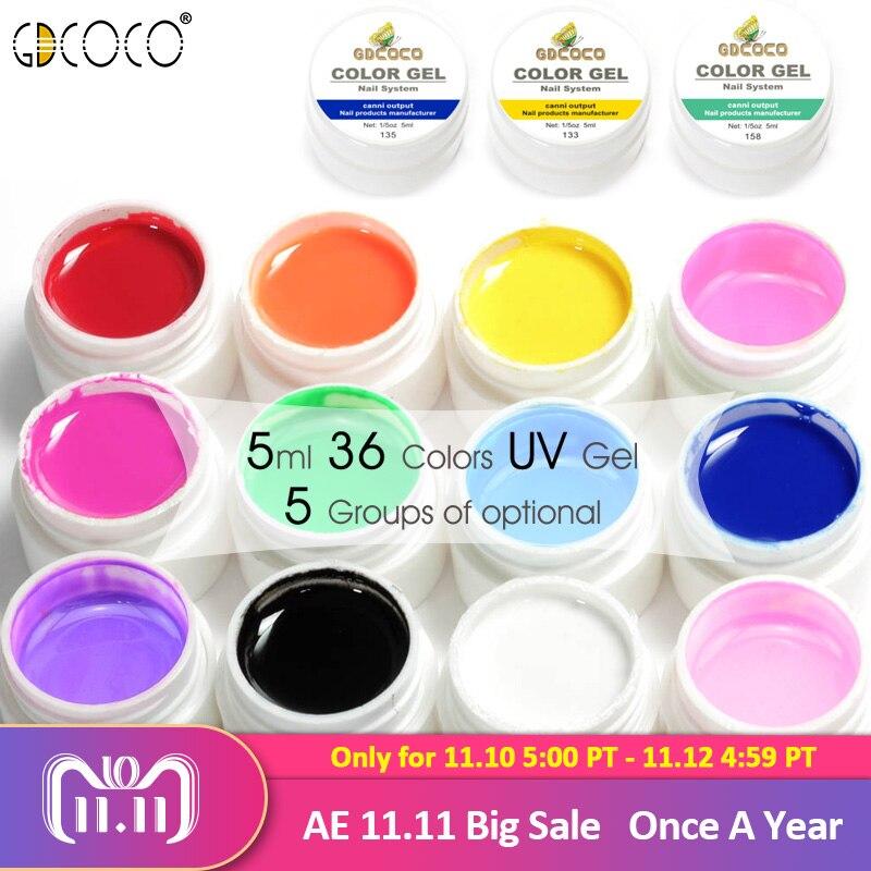 все цены на GDCOCO Nail Art Tips DIY Design Manicure 36 Color UV LED Soak Off DIY Paint Color Ink UV Gel Varnish Nail Gel Polish Lacquer Gel