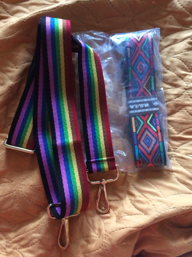 2019 Bag Strap Handles for Handbags Shoulder Bag Strap Accessories Rainbow Colorful Adjustable Women Hanger Decoration Ornament photo review