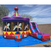 Commercial Inflatable Bouncy Slide Inflatable Bounce House With Slide