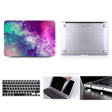 For MacBook 13 Hard Case , For Air Pro Reitna Touchbar 11 12 13 15 Hard Case Cover+Keyboard Cover+Screen protector+Dust Plugs