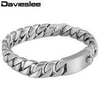 11mm Silver Tone Round Curb Cuban Link Mens Boys Chain 316L Stainless Steel Brcelet Personalize Sz