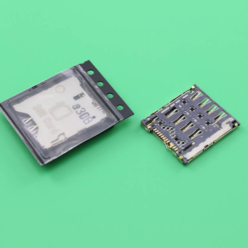 YuXi 2pcs/lot Sim Card Reader Connector Holder Contact Module for Alcatel One Touch Idol X OT 6040 6040D P320X-2AALRU1