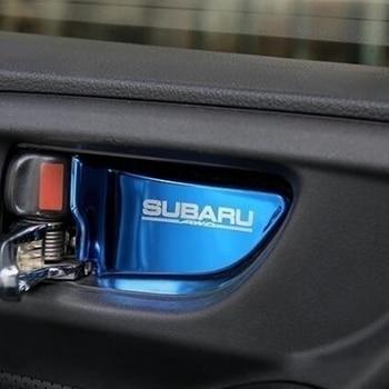 цена на For Subaru Xv Impreza StI STI 2015 2016 2017 Forester Outback Legacy 2013-2018 Car interior Door Handle Bowl Cover Patch