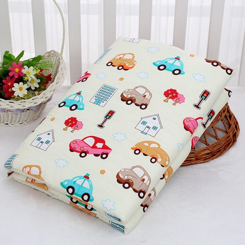 """80*120 ס""""מ תינוק 3 שכבה שינוי Pad חיצוני שכבה טהור כותנה התיכון סופג תחתון עמיד למים חיתול חיתול זחילה מחצלת שטיחים"""