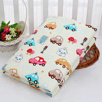80*120cm Baby 3 Layer Change Pad Outer layer Pure Cotton Middle absorbent Bottom Waterproof Nappy Diaper Crawling Mat Rugs